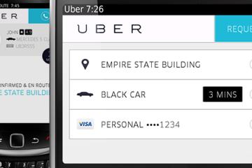 Uber em Blackberry