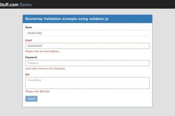 Como validar um formulário com o Bootstrap Validator?