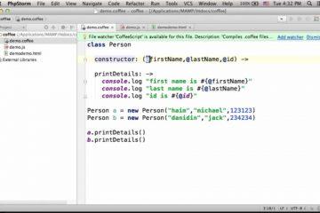 Usando classes CoffeeScript