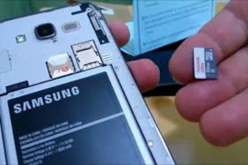 Como colocar um cartão microSD ou cartão de memória no Samsung Galaxy J2 Prime ou J7 Prime