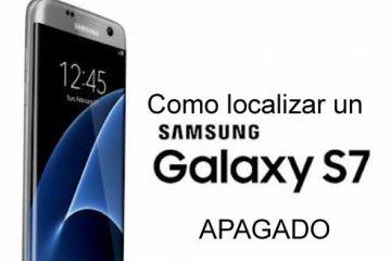 Como localizar um Samsung S7 off