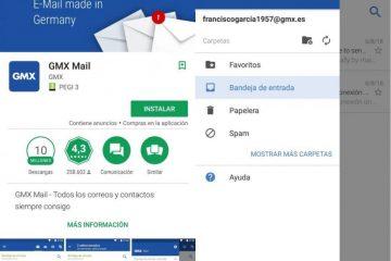 Como posso configurar meu GMX Mail no Android e no Outlook?