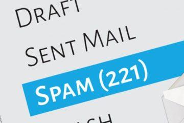 Como denunciar spam de um email?