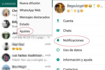 Desativar notificações do WhatsApp