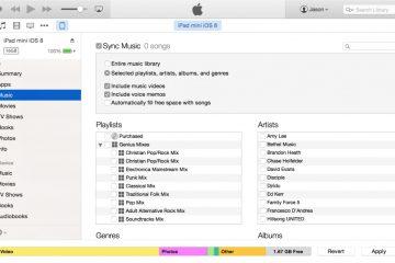 Como sincronizar minhas músicas no iTunes?