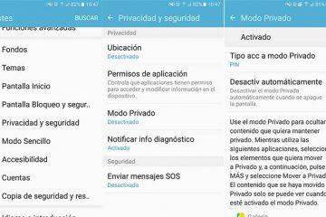 Como usar o modo Privado no Galaxy S7?