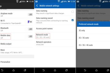 Como alterar as bandas e frequências de 3G ou 4G no Android?