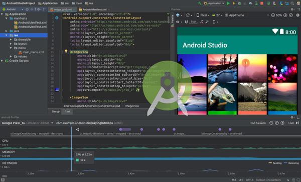 IDE de desenvolvimento do Android Studio