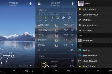 As melhores aplicações meteorológicas para Android