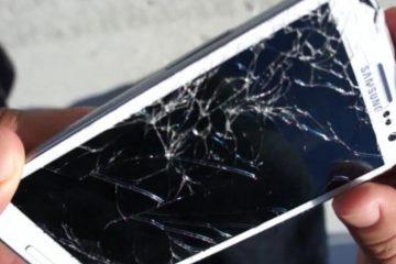 Se minha tela do celular quebrar, como faço para corrigi-la?