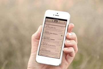 Como desativar a caixa de entrada no iPhone, sem excluir a conta de email
