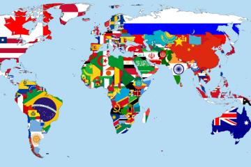 Bandeiras do mundo, divirta-se conhecendo todas elas