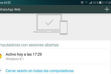 Como saber se tenho uma sessão da Web do WhatsApp aberta?
