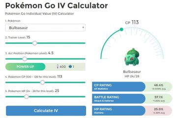 Capture o melhor com a Calculadora IV para Pokémon Go