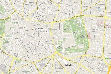 As melhores páginas do mapa de ruas de Madri
