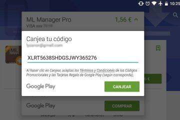 Como resgatar códigos da Google Play Store?