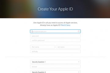 Como criar uma conta na Apple?