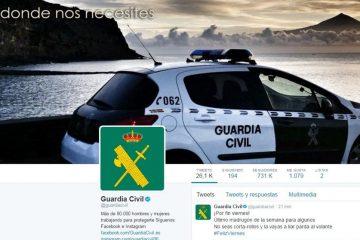 Qual é o Twitter oficial da Guarda Civil