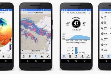 Faça o download do Dark Sky para Android. Para ser informado sobre o tempo todo
