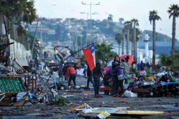 Como saber quanto foi um tremor no Chile