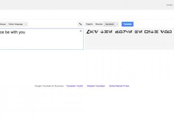 Google Tradutor Adicionar Aurebesh como um novo idioma