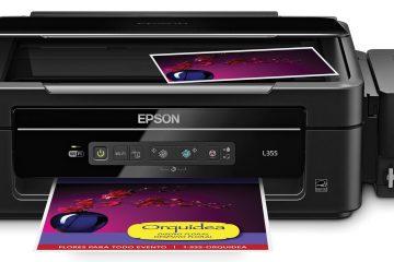 Como instalar o Epson L355?