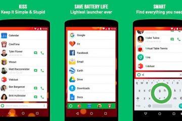 Kiss Launcher, possivelmente o mais simples do Google Play
