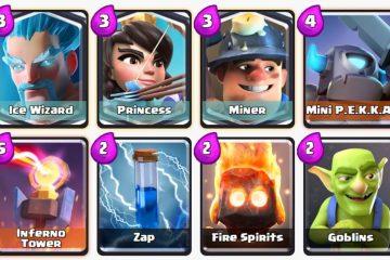 Os 3 melhores decks com mineiros de Clash Royale