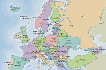 Mapa político online da Europa