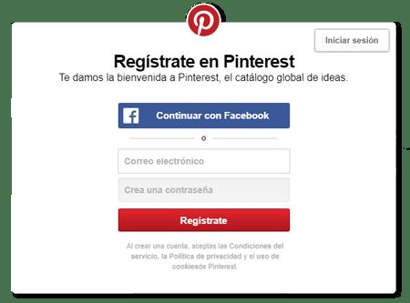 Guia: Como cear una cuenta en Pinterest