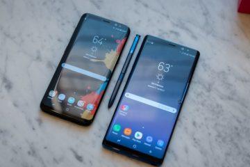 Samsung Galaxy Note 8 vs Samsung Galaxy S9: Qual é o Melhor?