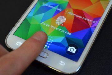 Como remover o bloqueio de tela com impressão digital do Galaxy S5?