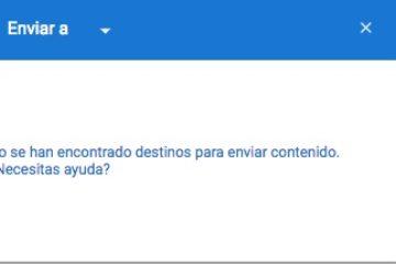 Solução: não foram encontrados destinos para enviar conteúdo no Chromecast