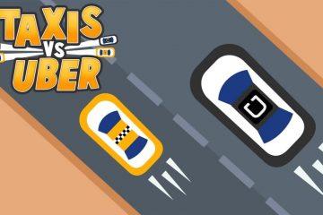 Faça o download do táxi vs Uber para Android. Quanto tempo você pode alcançar seu objetivo?