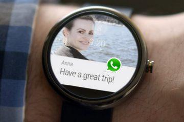 Como enviar mensagens do WhatsApp do Android Wear?