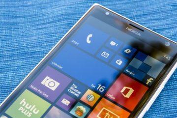 A versão mais recente do Windows 10 Mobile, disponível para testadores