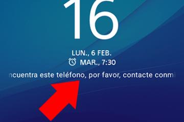 Como adicionar uma mensagem na tela de bloqueio