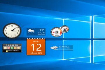Como recuperar ou restaurar gadgets no Windows 10 e 8?
