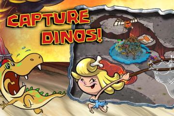 Baixe Bad Dinos para Android: Ajude os homens das cavernas!
