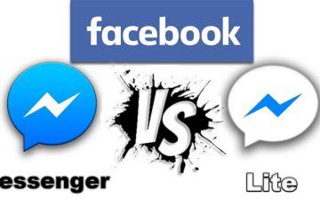 Quais são as diferenças entre os aplicativos Facebook Messenger e Facebook Messenger Lite?