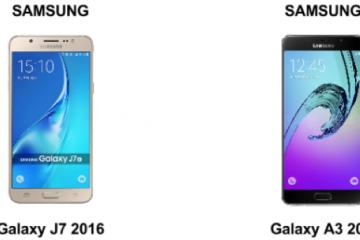Diferenças entre o Samsung J7 e A3: Quem vence a batalha?