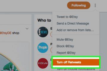 Como ocultar retweets de outras pessoas no Twitter?
