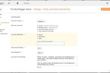 Como configurar e habilitar respostas para comentários no Blogger