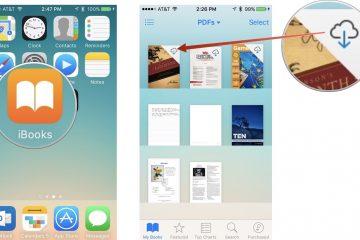 Como baixar e salvar arquivos PDF no seu iPhone com o iBooks?