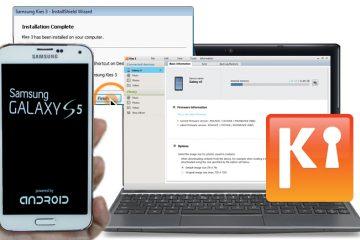 Kies3 para sincronizar Samsung