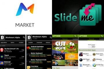Lojas alternativas à Google Play Store