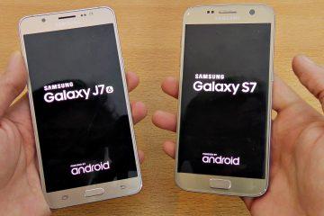 Mais diferenças marcadas entre o Samsung galaxy S7 e o j7