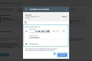 Como configurar um método de pagamento no Google Play