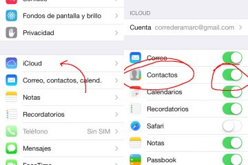 Como transferir contatos do iPhone para o Gmail