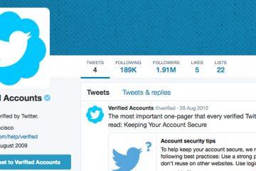 Como verificar uma conta do Twitter, minha conta do Twitter está verificada?